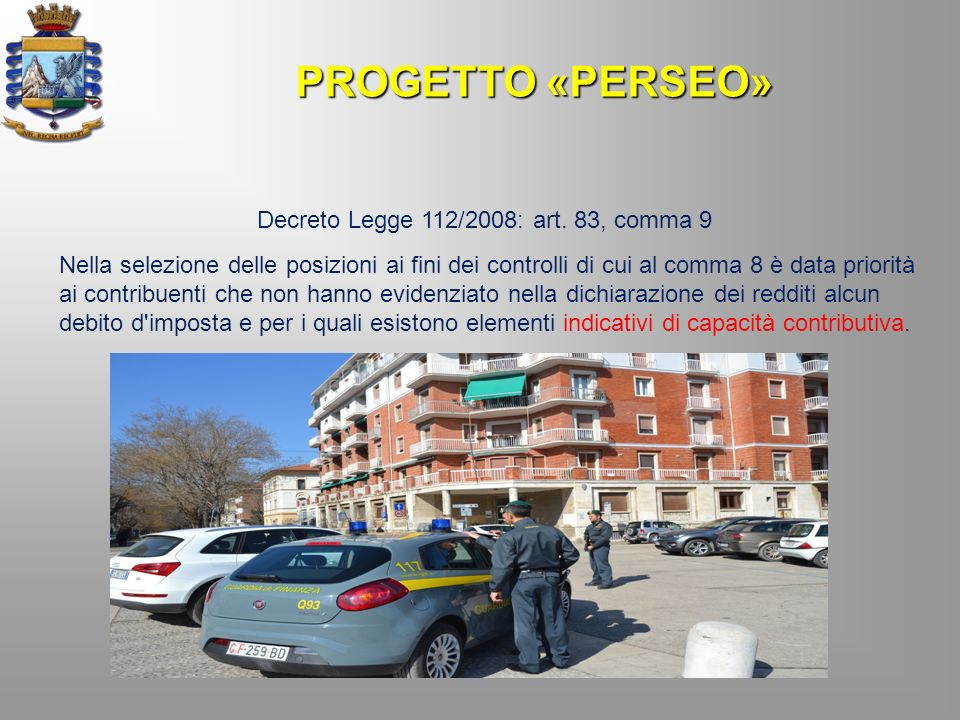 Decreto Legge 112/2008: art. 83, comma 9