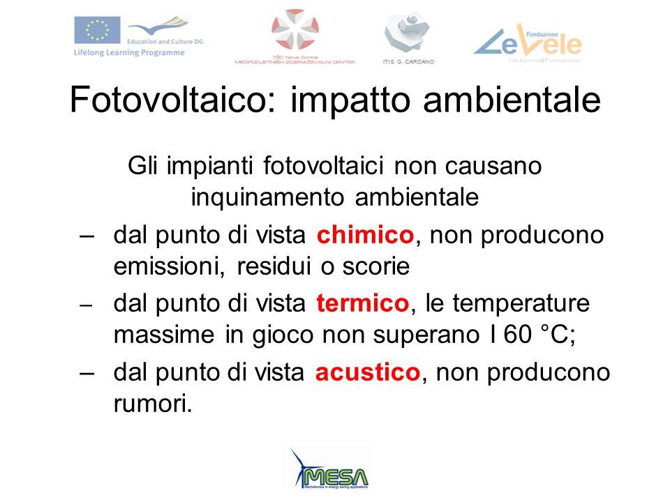 Fotovoltaico: impatto ambientale