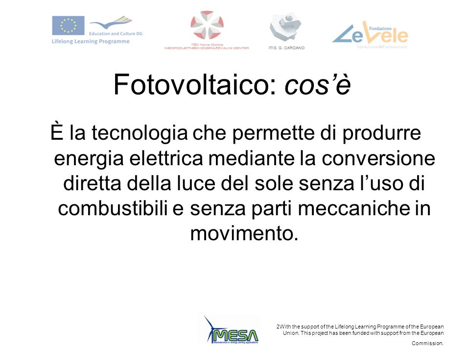 Fotovoltaico: cos'è