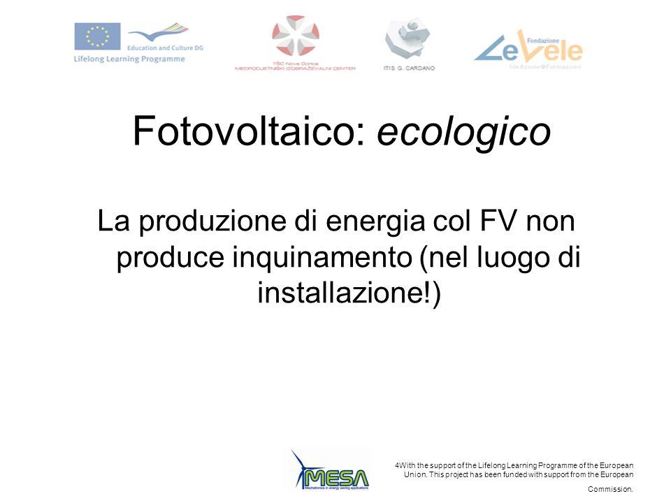 Fotovoltaico: ecologico
