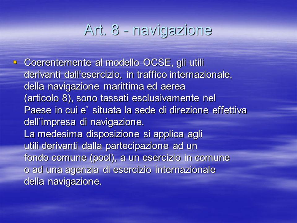 Art. 8 - navigazione