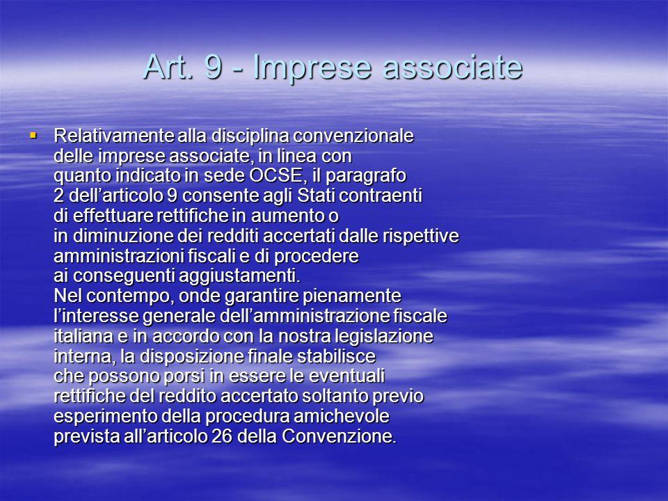 Art. 9 - Imprese associate