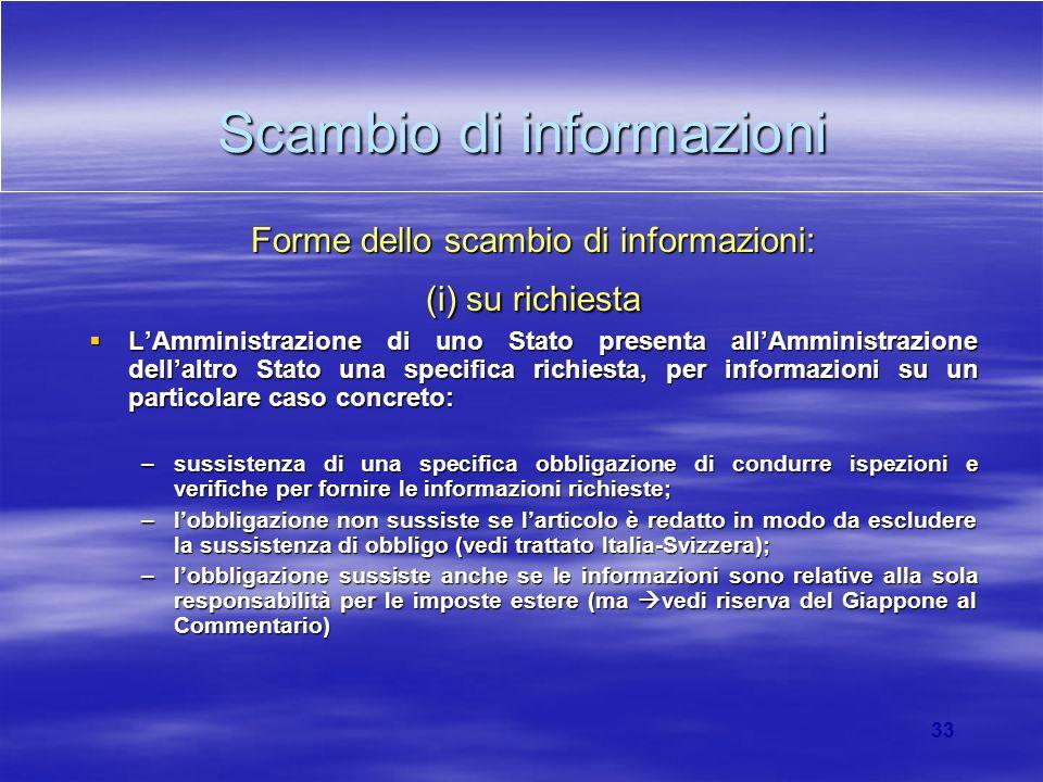 Scambio di informazioni