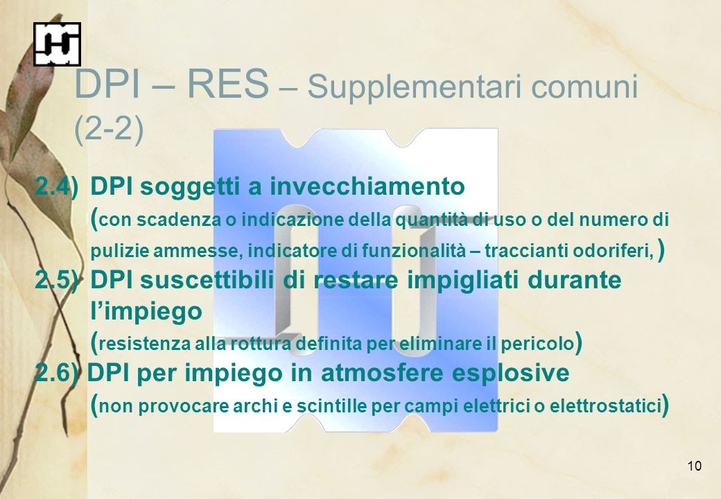 DPI – RES – Supplementari comuni (2-2)