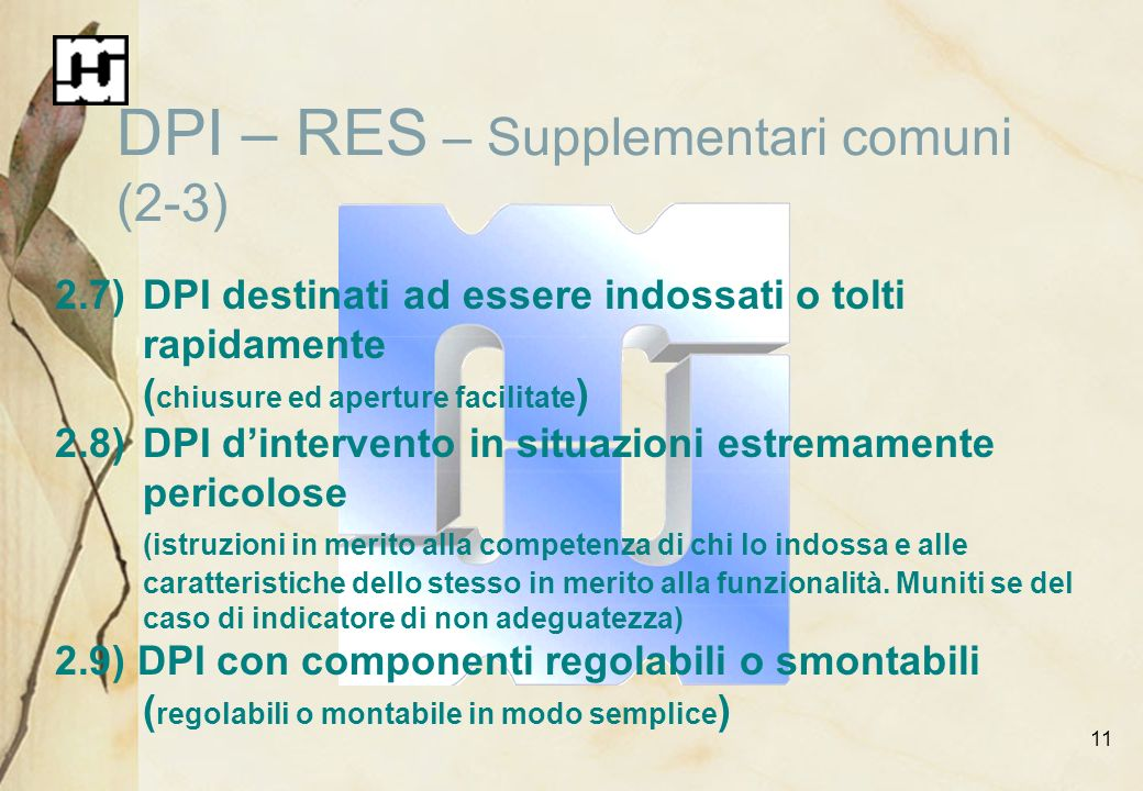 DPI – RES – Supplementari comuni (2-3)