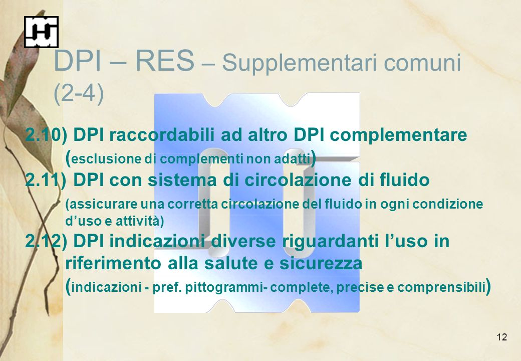 DPI – RES – Supplementari comuni (2-4)