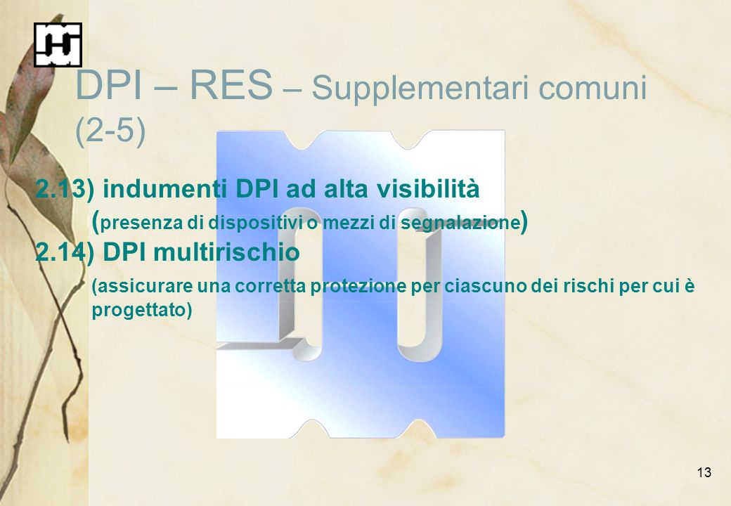 DPI – RES – Supplementari comuni (2-5)