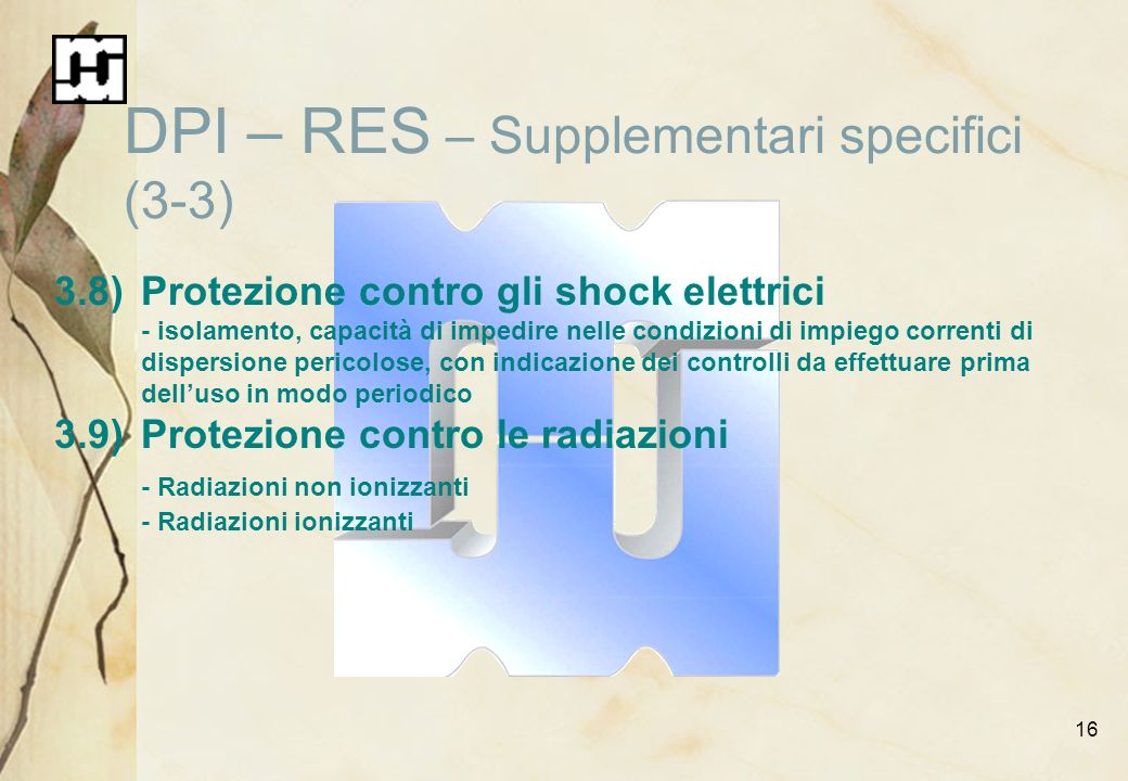 DPI – RES – Supplementari specifici (3-3)