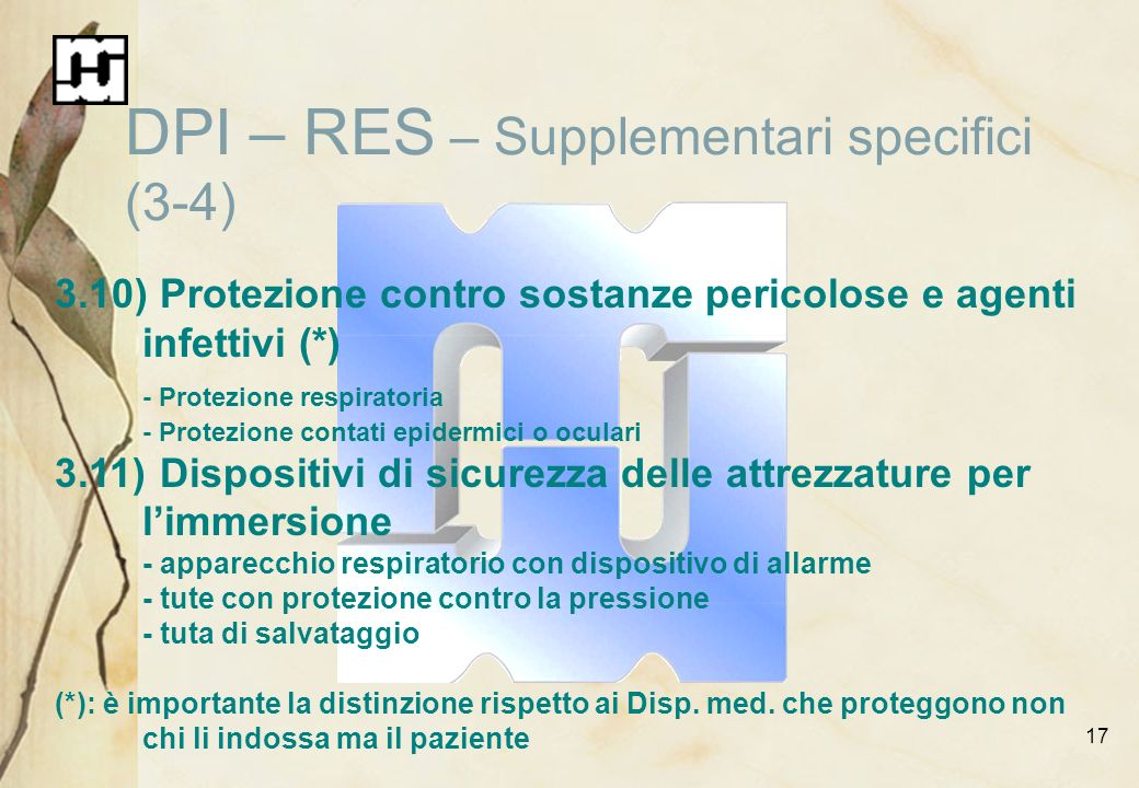 DPI – RES – Supplementari specifici (3-4)