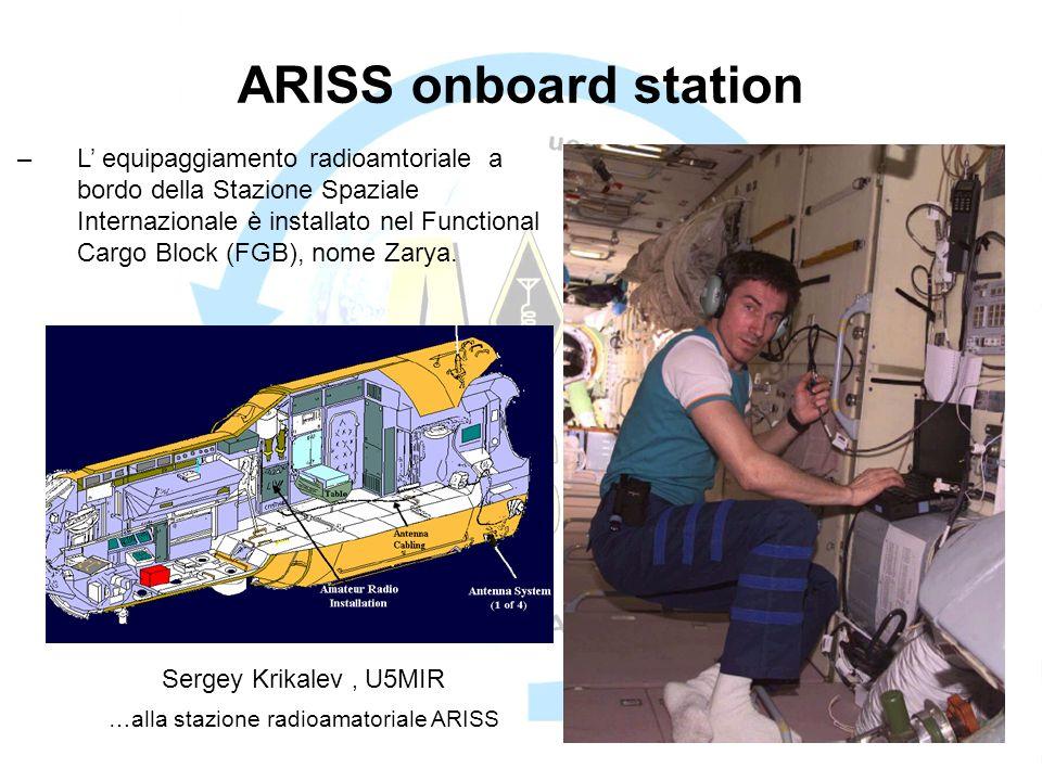 …alla stazione radioamatoriale ARISS