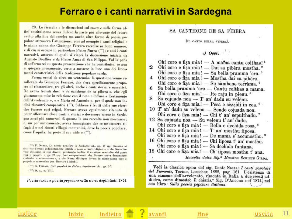 Ferraro e i canti narrativi in Sardegna