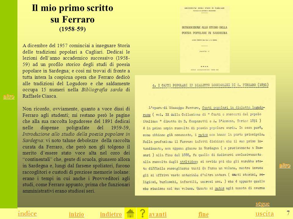 Il mio primo scritto su Ferraro (1958-59)