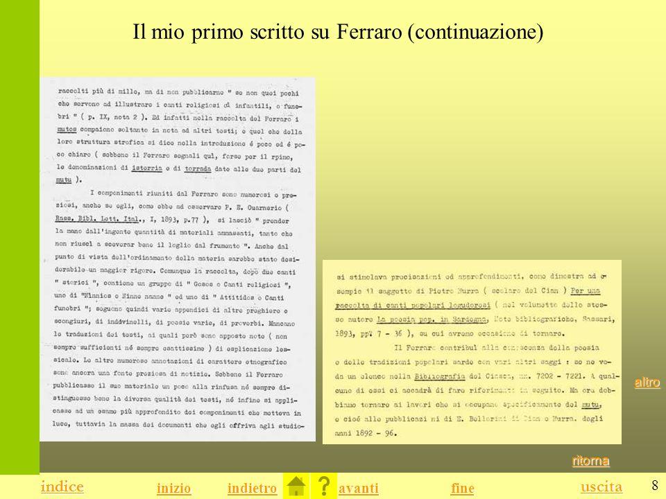 Il mio primo scritto su Ferraro (continuazione)