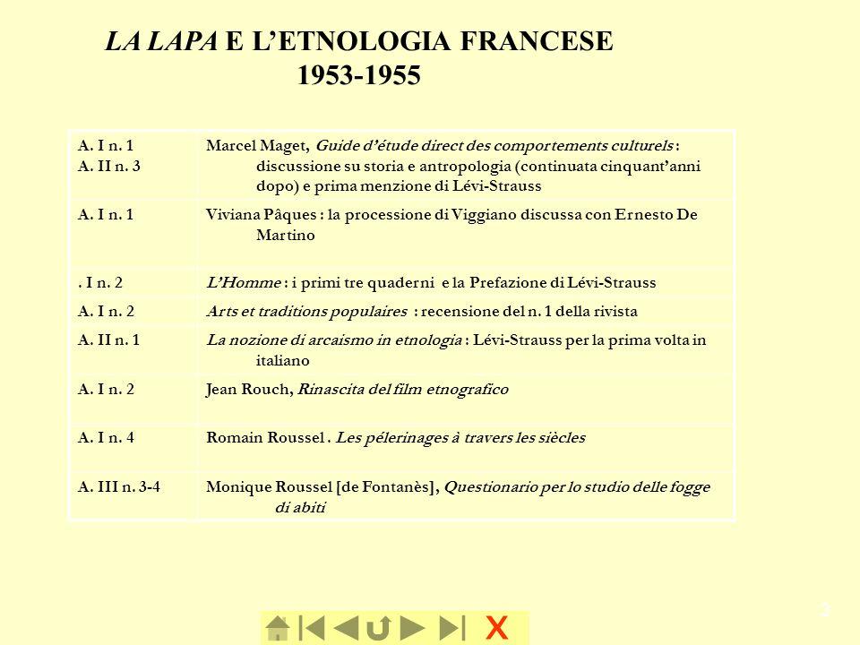 LA LAPA E L'ETNOLOGIA FRANCESE
