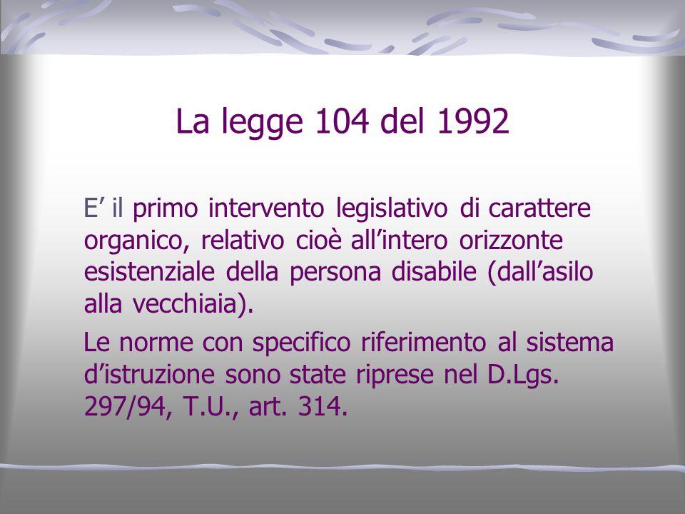 La legge 104 del 1992