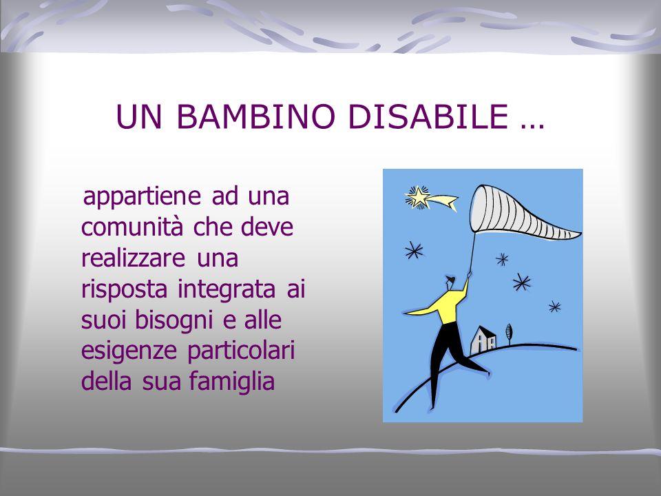 UN BAMBINO DISABILE …