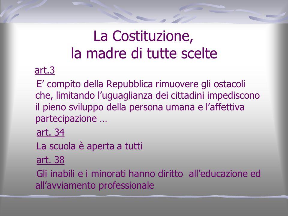 La Costituzione, la madre di tutte scelte