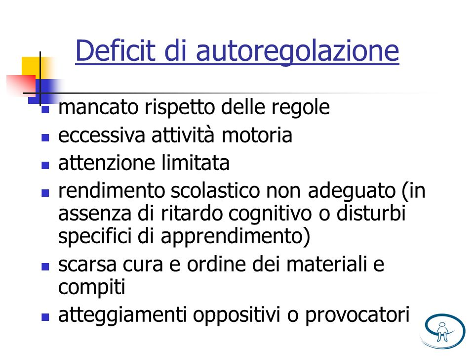 Deficit di autoregolazione