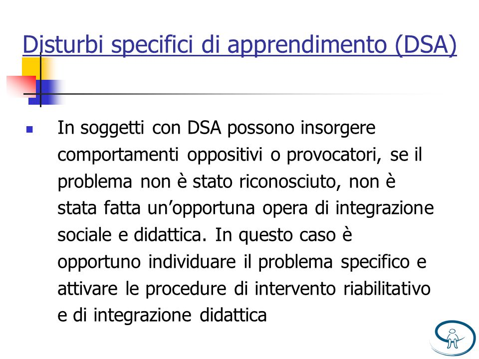 Disturbi specifici di apprendimento (DSA)
