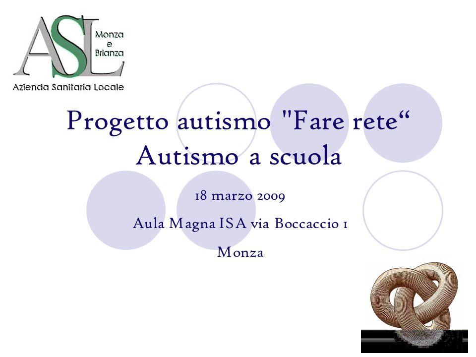 Progetto autismo Fare rete Autismo a scuola