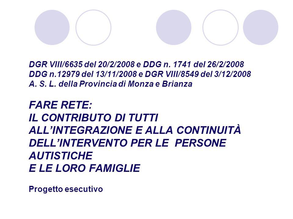 DGR VIII/6635 del 20/2/2008 e DDG n. 1741 del 26/2/2008 DDG n
