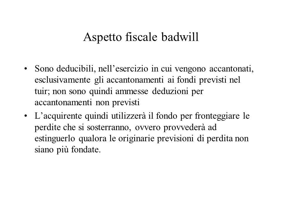 Aspetto fiscale badwill