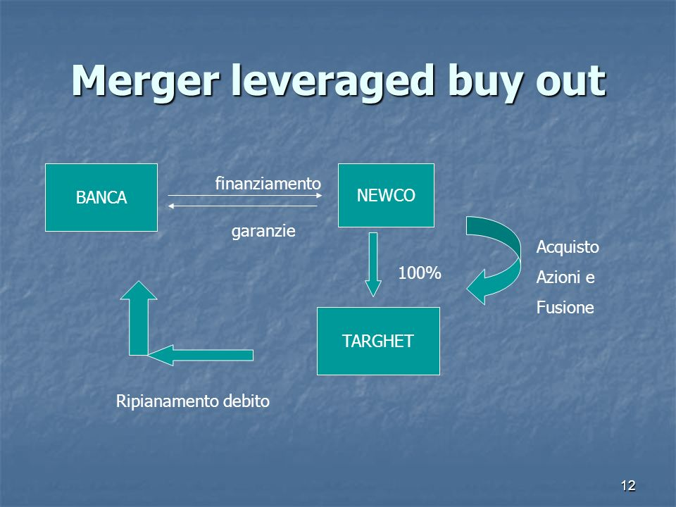 Merger leveraged buy out