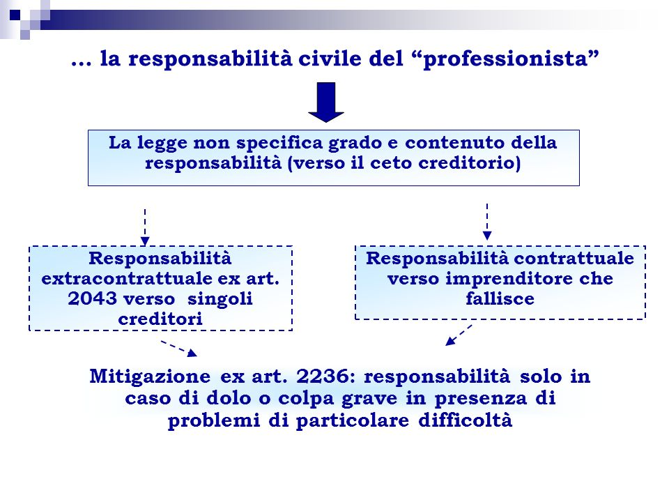 … la responsabilità civile del professionista