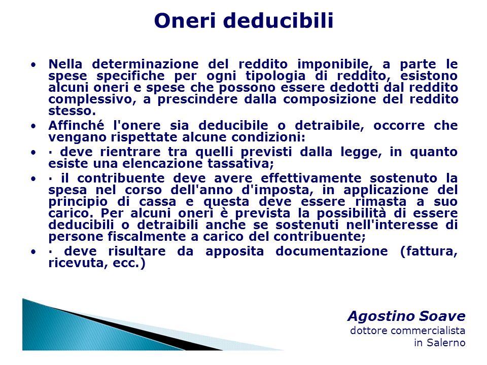 Oneri deducibili Agostino Soave