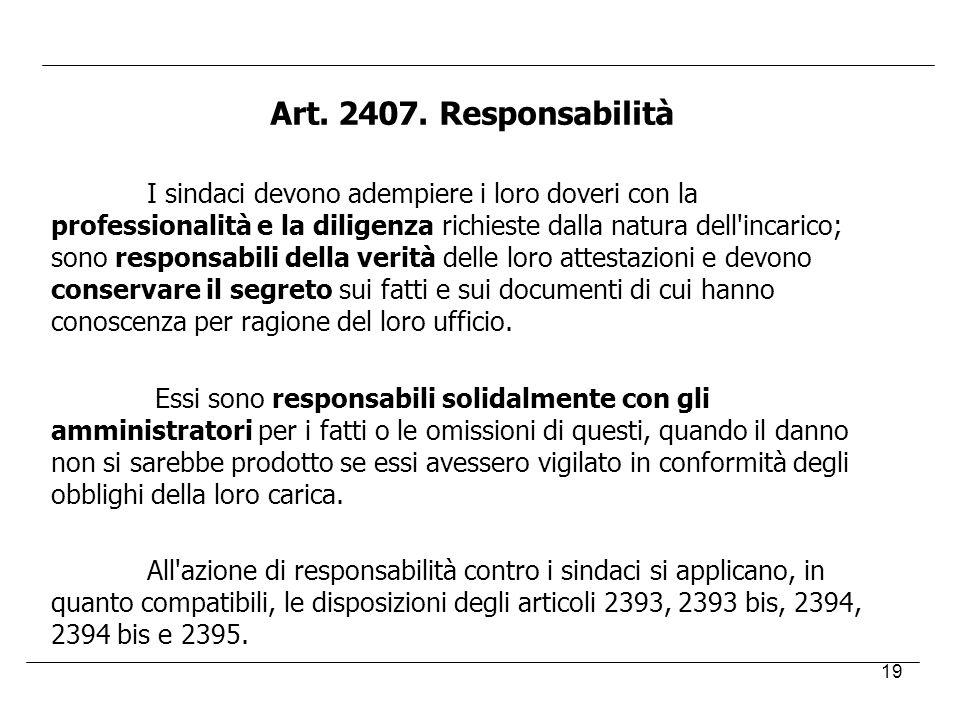 Art. 2407. Responsabilità