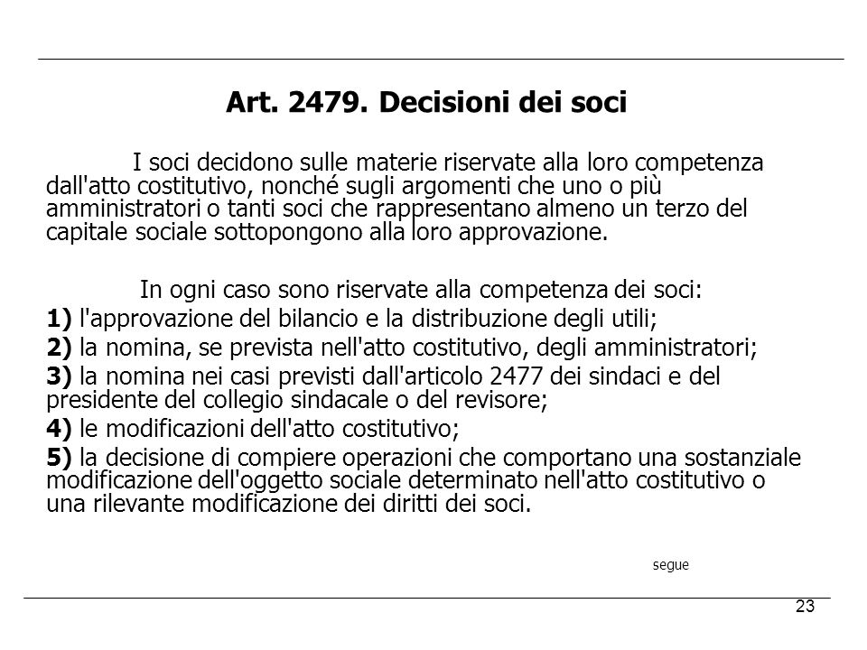 Art. 2479. Decisioni dei soci