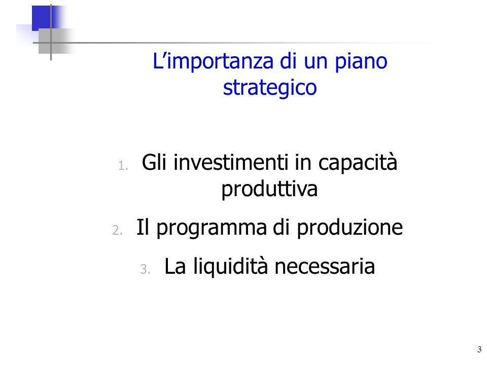 L'importanza di un piano strategico