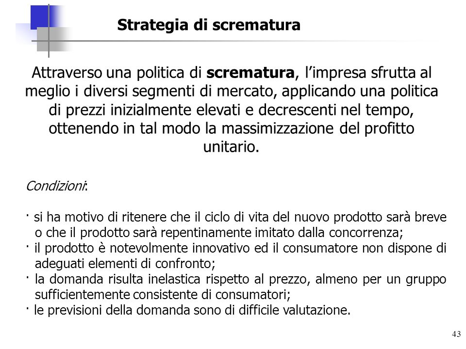 Strategia di scrematura