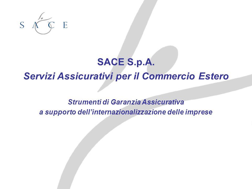 SACE S.p.A. Servizi Assicurativi per il Commercio Estero