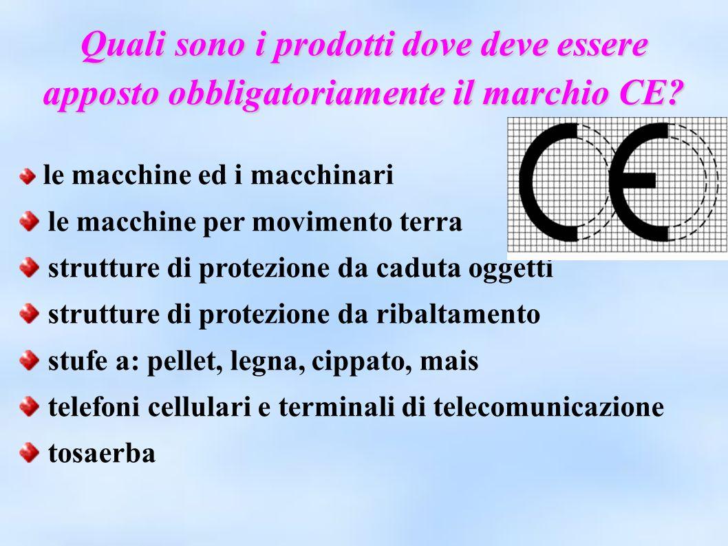 Quali sono i prodotti dove deve essere apposto obbligatoriamente il marchio CE