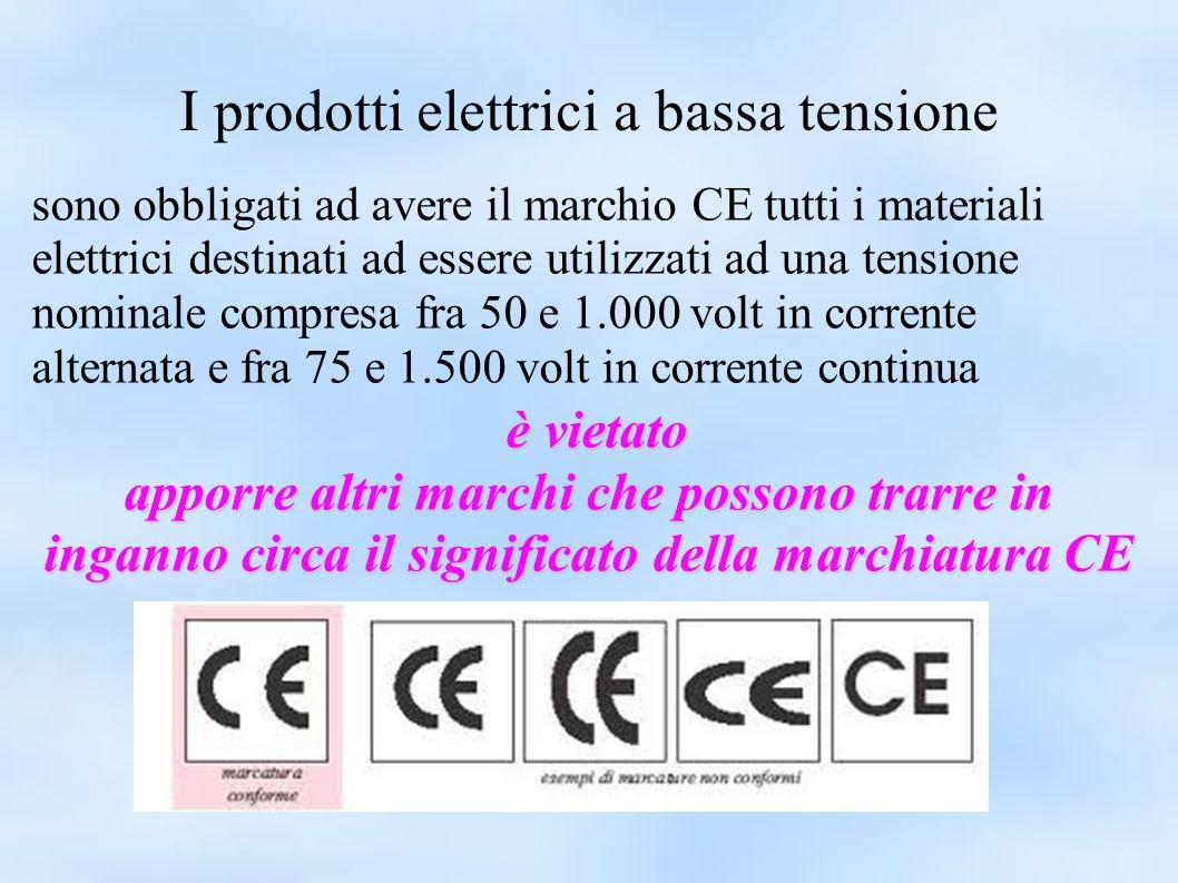 I prodotti elettrici a bassa tensione