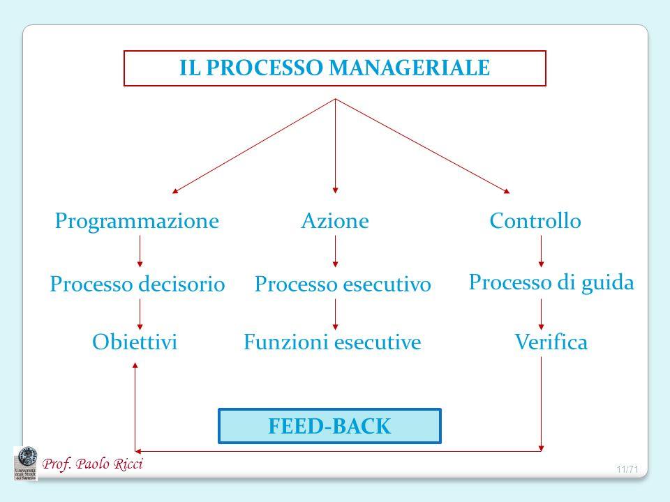 IL PROCESSO MANAGERIALE