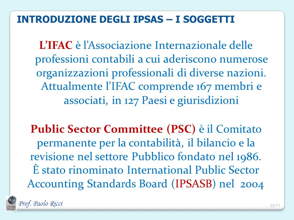 È stato rinominato International Public Sector