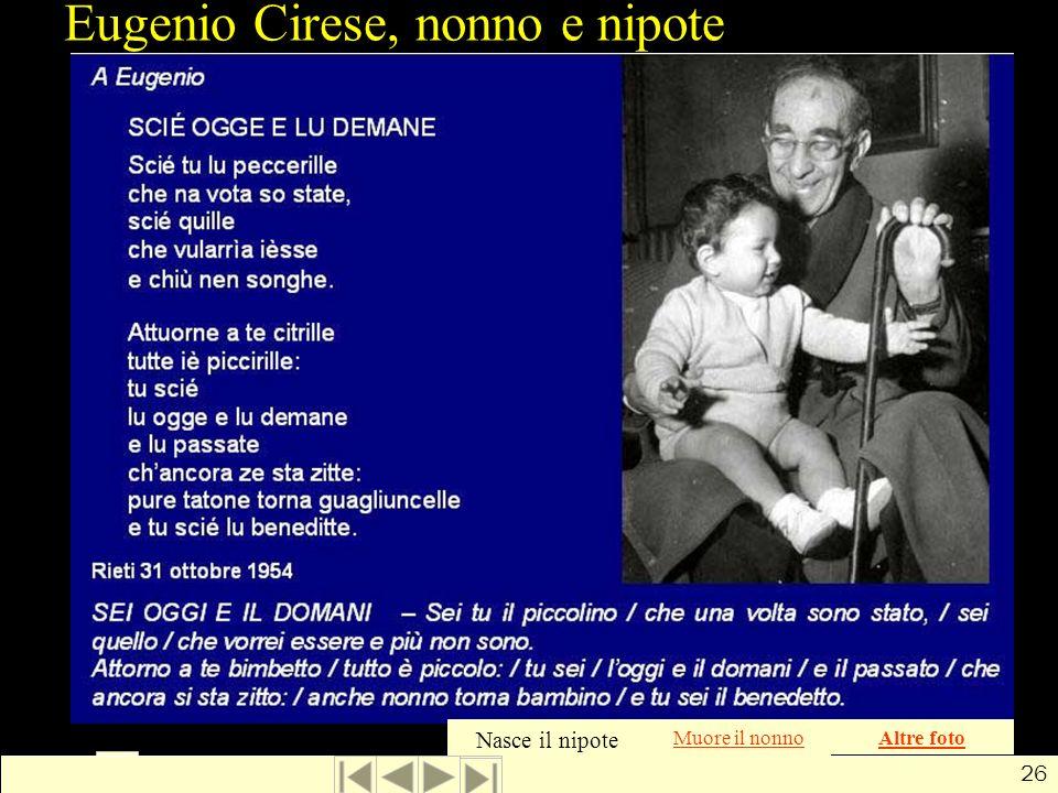 Eugenio Cirese, nonno e nipote