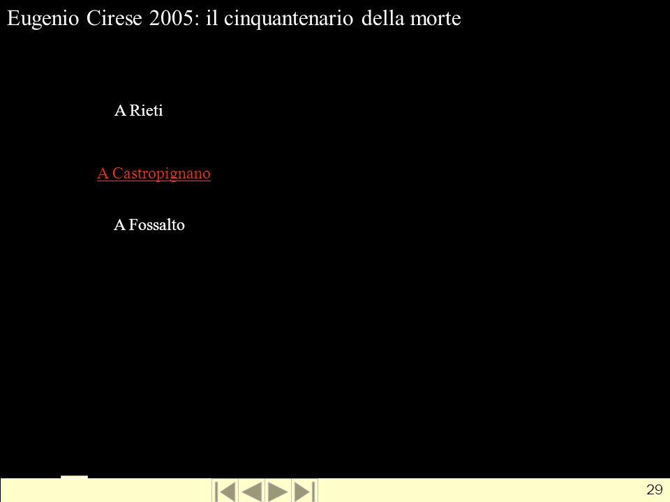 Eugenio Cirese 2005: il cinquantenario della morte