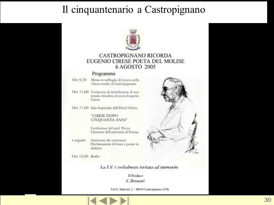 Il cinquantenario a Castropignano