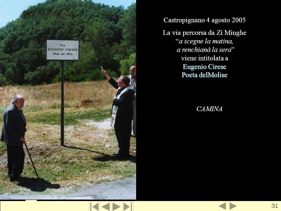 La via di zì Minghe Castropignano 4 agosto 2005