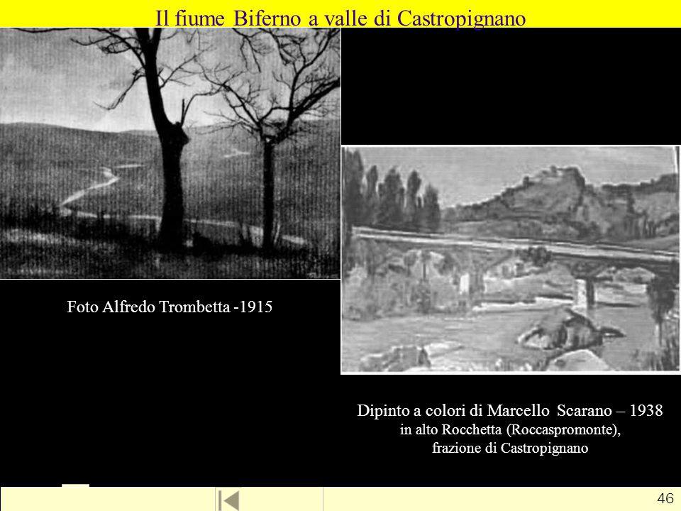 Il fiume Biferno a valle di Castropignano