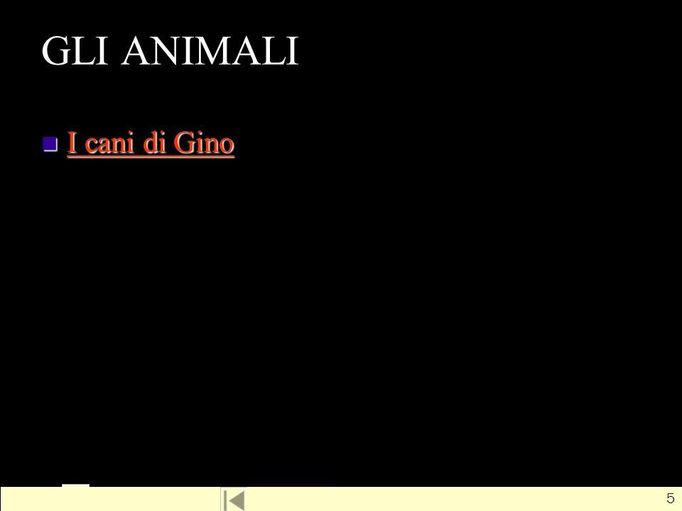 GLI ANIMALI I cani di Gino