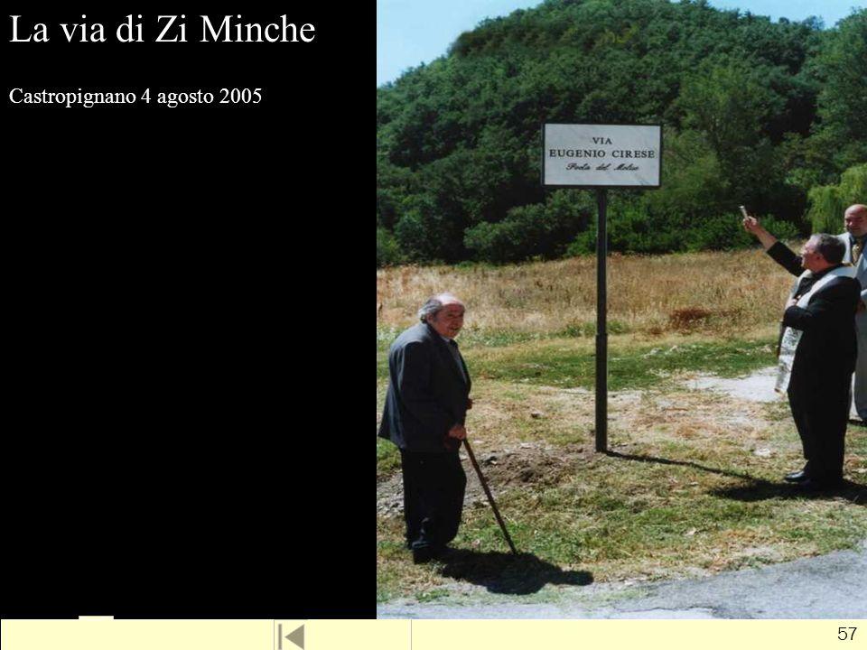La via di Zi Minche Castropignano 4 agosto 2005