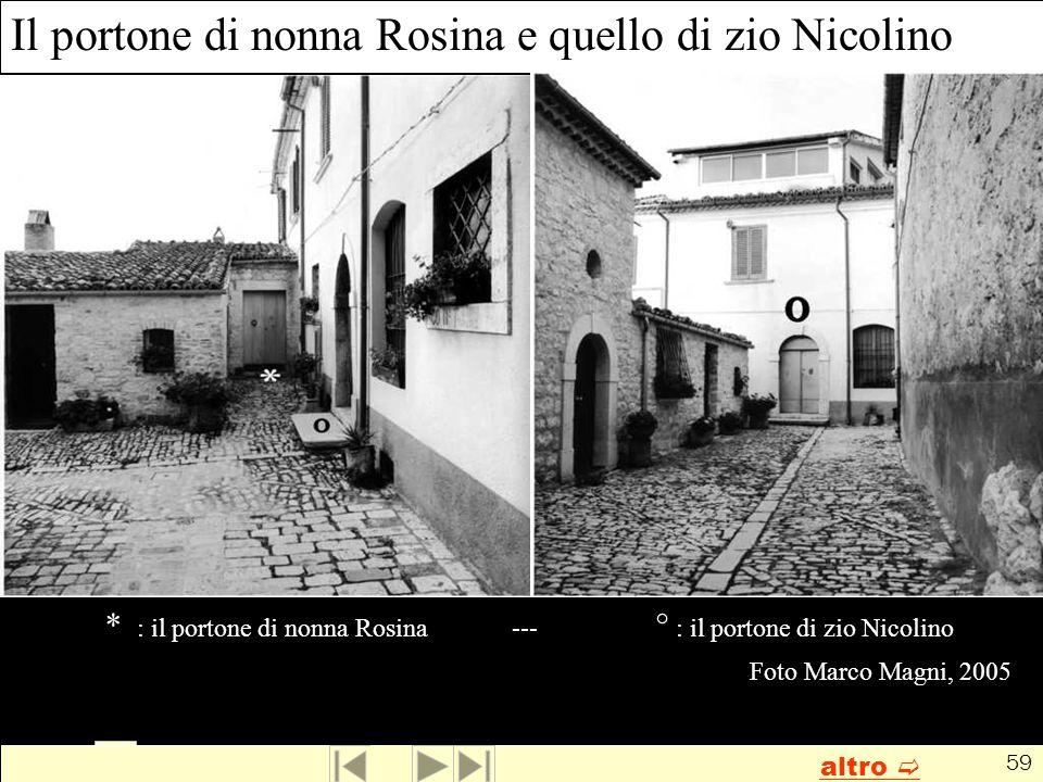 Il portone di nonna Rosina e quello di zio Nicolino