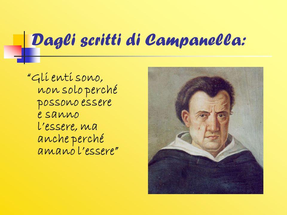 Dagli scritti di Campanella: