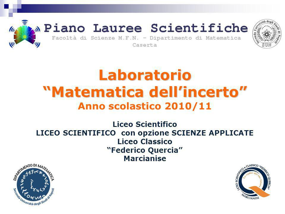 Laboratorio Matematica dell'incerto