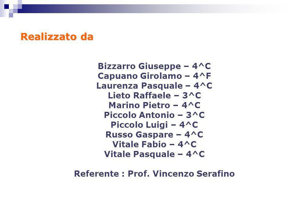 Referente : Prof. Vincenzo Serafino