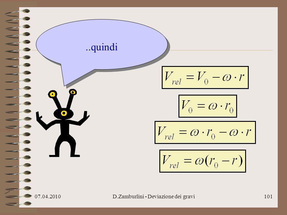 D.Zamburlini - Deviazione dei gravi